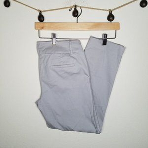 Ann Taylor Factory Gray Career Work Ankle Pants 2